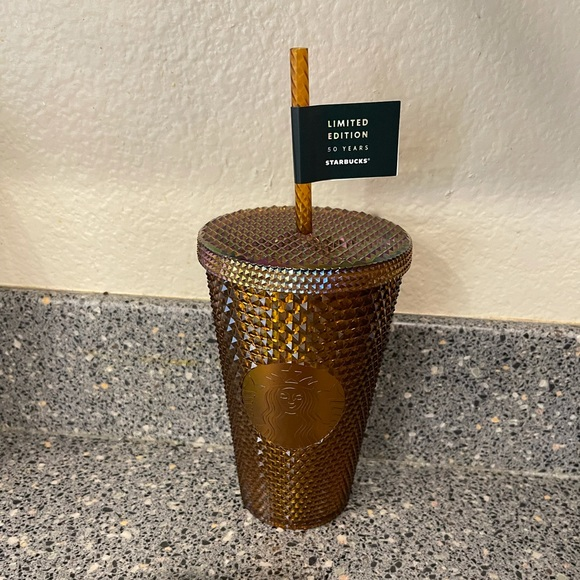 Starbucks grande honeycomb gold studded 16oz